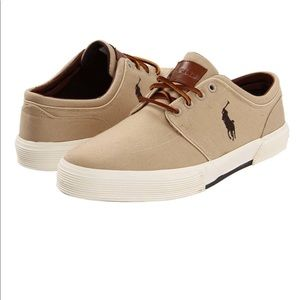 🔥Polo Ralph Lauren canvas beige Vaughn men's